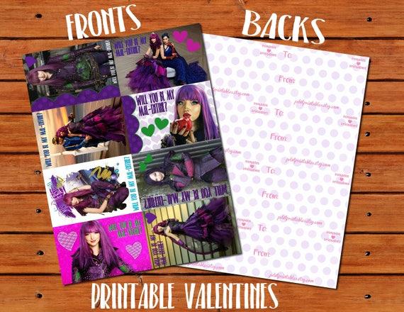 Disney S Descendants Printable Character Guide Thrifty Jinxy