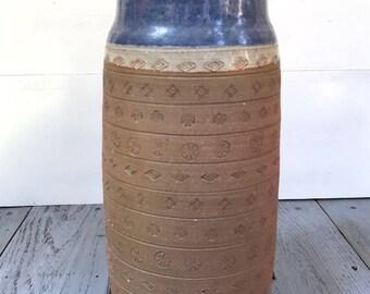 Vintage Freeburg Incised Studio Pottery Vase