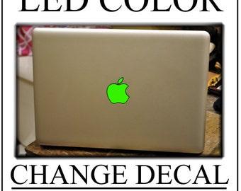 mac apple logo color change