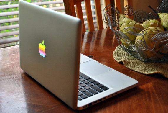 Leuchtende Apple Macbook Aufkleber Aufkleber Retro Led Logo Etsy