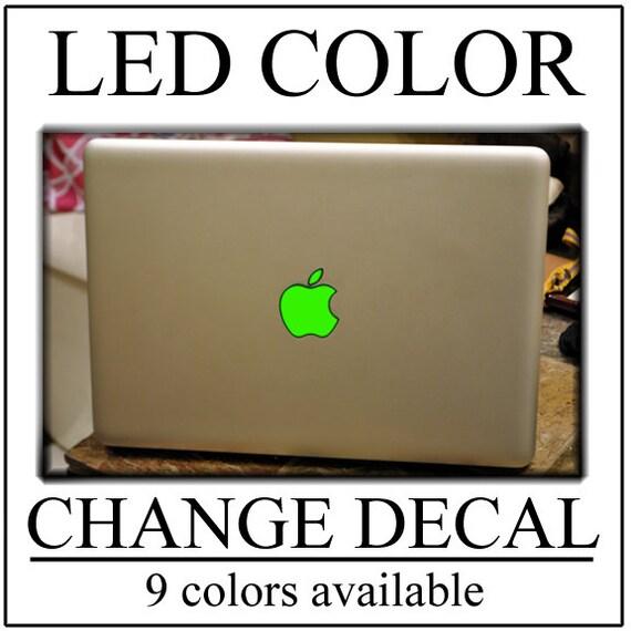 Leuchtende Apple Macbook Aufkleber Aufkleber Farbwechsel Ihre Etsy