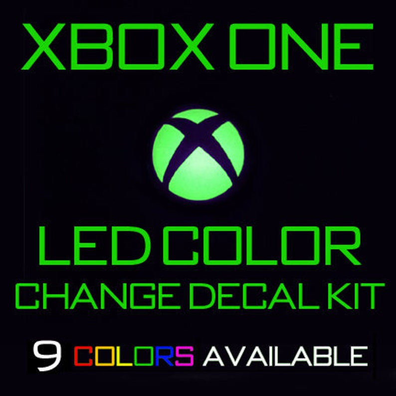 CONTROLLER LED MOD for Xbox One Slim X and Core - 9 Colors Available!  Console Skin Decal sticker light ring