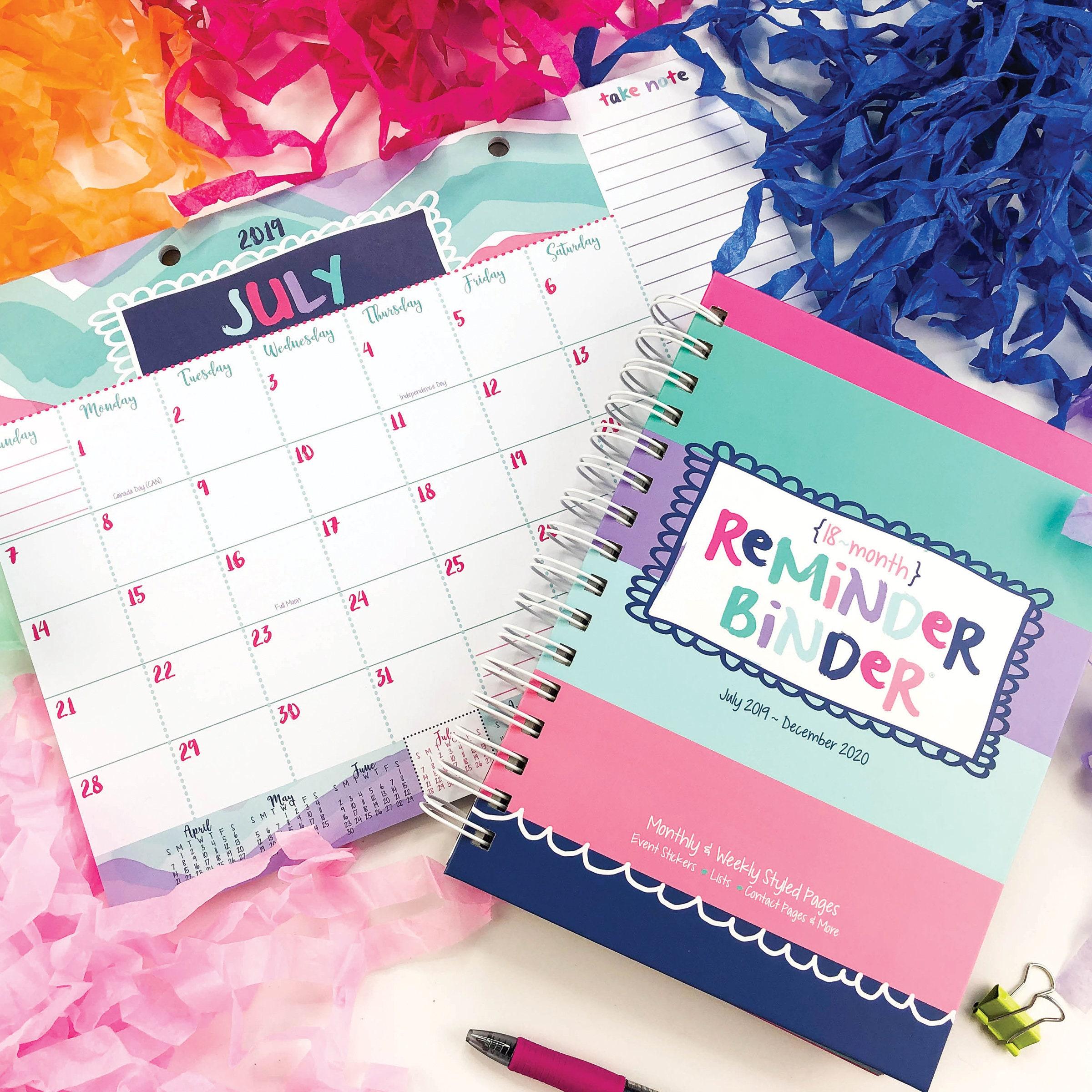 Best Gifts For 5 Yr Old Girl 2020 Planner Girl Bundle NEW 2019 2020 Reminder Binder® Mini | Etsy