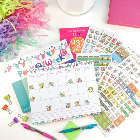 Best Planner Pad Stickers Variety Gift Set Daily Vertical Etsy