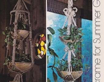 Haystack Plant Hanger • Macrame 1970sP Pot Bead Beaded Hanging • Art 70s • Vintage Macramé • Boho Hippie • Instant Download PDF