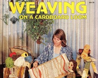 Weaving On A Cardboard Off Loom • 1970s Flatloom Weaver Books • 70s Easy Beginner Vintage Weaving Pattern Book • Digital Download PDF Ebook
