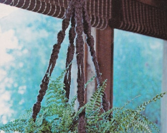 Macramé Shadows • Macrame 1970s Plant Pot Bead Beaded Hanging • Art 70s • Vintage Macramé Book • Boho Hippie • Instant Download PDF