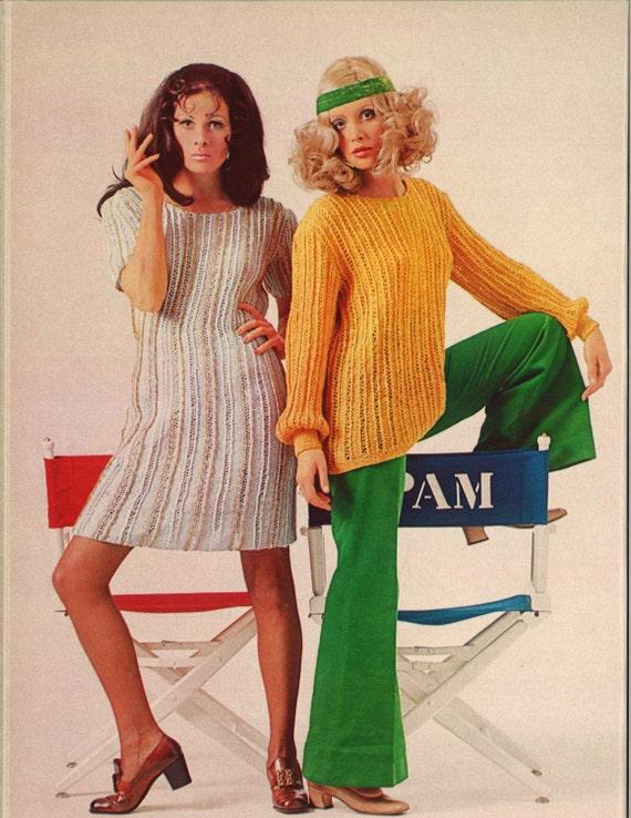 Hedy Pam 1960s Mod Sweater Dress Sweaterdress Patterns Etsy