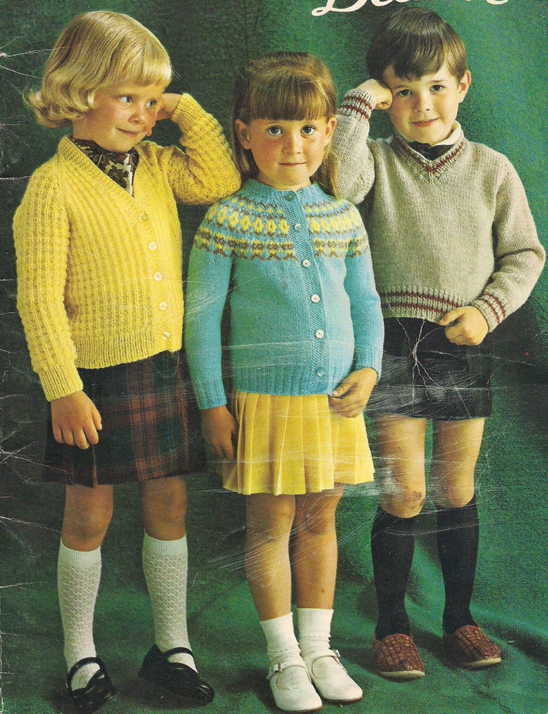 f7f71f660 Smart Sweaters 1950s Children s Sweater Pattern