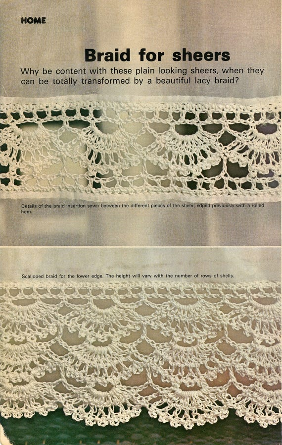 Wednesday Afternoon 1970s Heirloom Lace Crochet Patterns Etsy