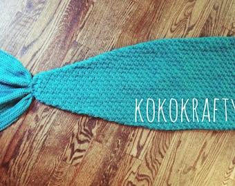 MEDIUM Mermaid Tail Blanket/Mermaid/Mermaid Blanket/Kids Blanket/Crochet Mermaid Blanket