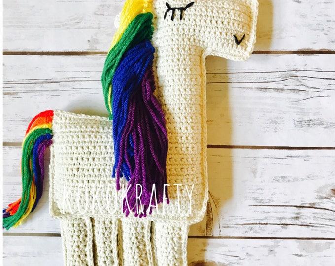 Rainbow Unicorn Doll, Crochet Unicorn Doll, Crochet Doll, Unicorn, Rainbow Baby Gift, Rainbow Doll, Rainbow Baby