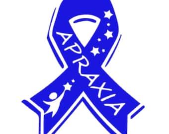 Apraxia Awareness Car Decal/Apraxia Awareness/Car Decal