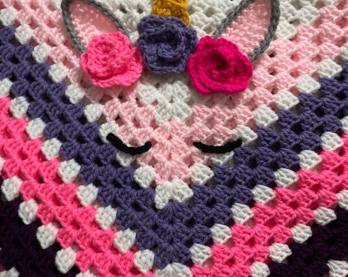 Unicorn Baby Blanket/Crochet Baby Blanket/Crochet Baby Unicorn Blanket/Unicorn Blanket