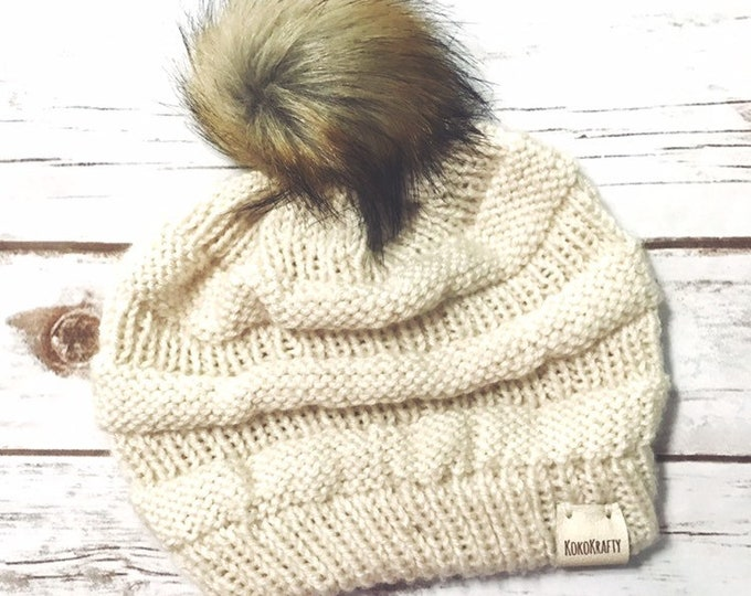 Knit CopyCat Beanie, Woman Beanie, Gifts for her, Knit Beanie, Holiday Gifts, Knit Hat