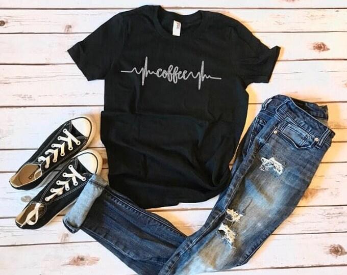 Coffee Tshirt, adult coffee lifeline shirt, cool shirts, coffee lifeline, fun shirts