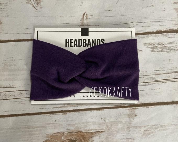 Solid Color/s Twisted Turban Headband/Athletic Headband/Yoga/Headband