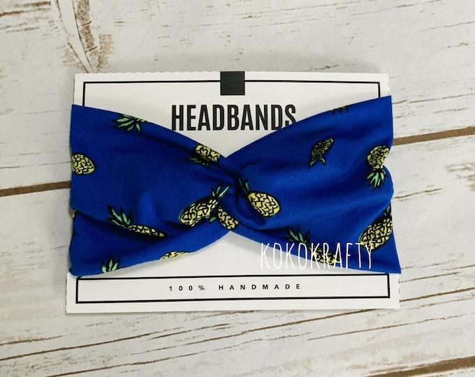 Pineapple  Twisted Turban Headband/Athletic Headband/Yoga/Headband