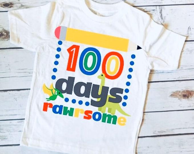 100 Days of School/ 100 Days Shirt/ School Shirt/ 100 days/ Fun Kids Shirt/OOTD/ Kids Fashion/Novelty Shirt/100 days of school shirt/