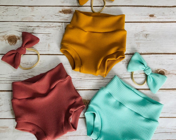Solid Color Bummies/Infant Bummies/Infant Shorts/High Waisted Bummies/Shorties