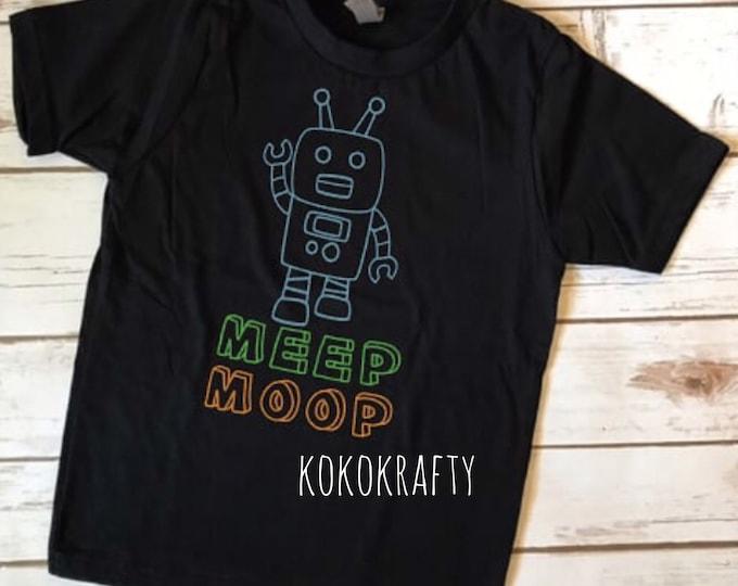 Robot Shirt/Meep Moop Shirt/Kids Shirts/Fun Shirts/Robot