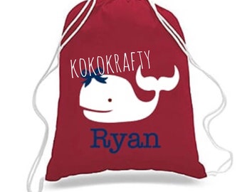 Kids Drawstring Bags/Party Favors/End of year gifts/Beach Themed Bags/Birthday Party Favors
