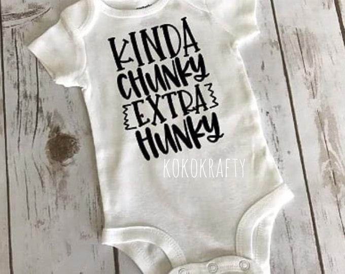Chunky Hunky Bodysuit/Cute Baby Bodysuits/Cute Fashion/Baby Shower Gift/Baby Boy/Baby