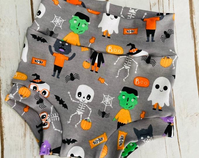 Halloween Bummies/Infant Bummies/Infant Shorts/High Waisted Bummies/Baby Bummies