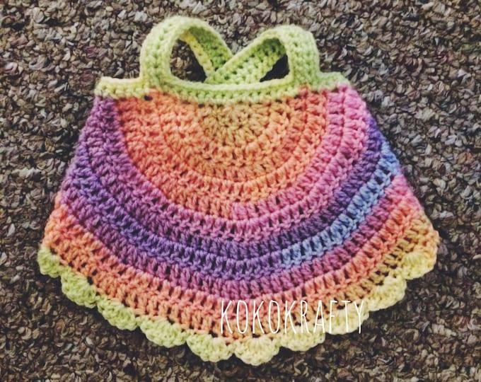 Sunshine Swing Halter Top, Baby Crochet Tops, Infant Halter Top, Toddler Tops, Toddler Halter Top, Halter Top, Crochet