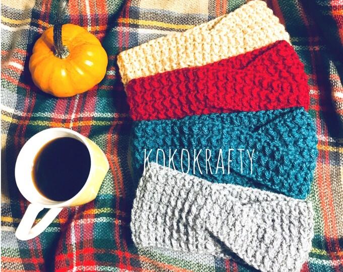 Twisted Ear Warmer, Crochet Twisted Ear Warmer, Crochet Fall Accessories, Ear Warmer, Crochet Winter Accessories