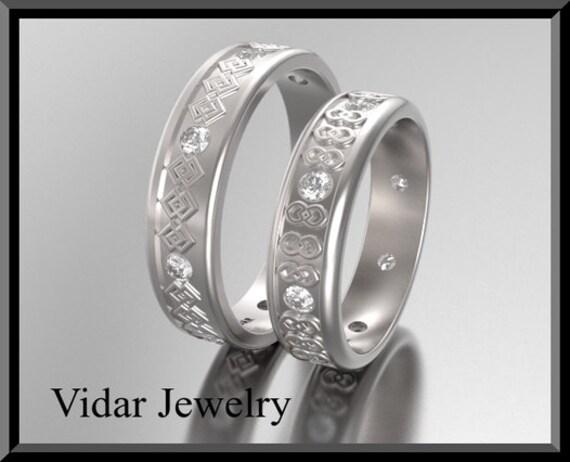 Wedding Band Wedding Ring His And Hers 14k Matching Wedding Etsy