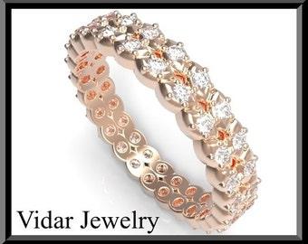 Wedding Band,Diamond Wedding band.Diamond wedding ring,gold wedding band,unique wedding band,Rose Gold wedding band,Eternity.Engagment ring
