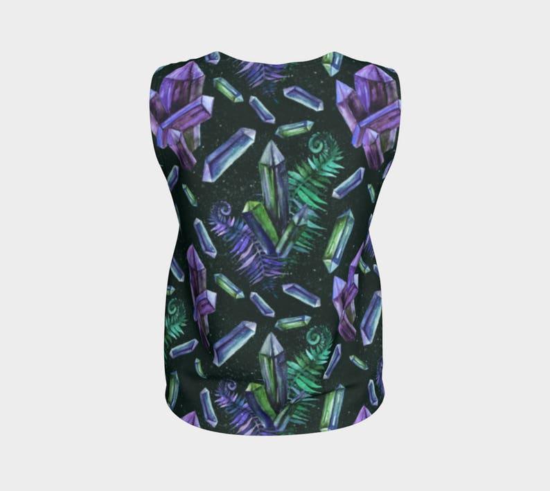 Emerald Green Crystal Jersey Shirt Tank Top SOLDERIE