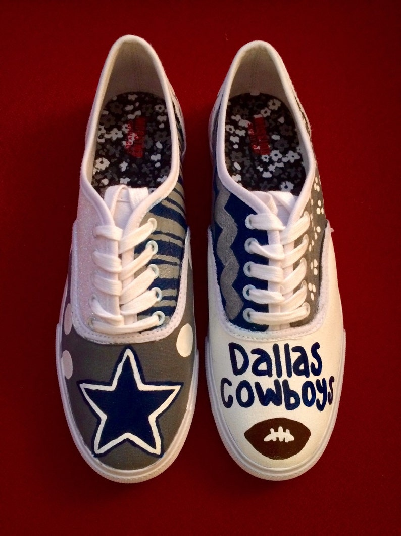 ca73008ed6a ... dallas cowboys painted tennis shoes etsy ...