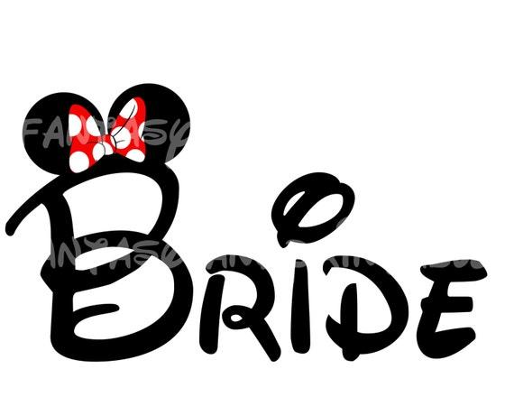 Bride Minnie Mouse Mickey Wedding DIY you print Printable Iron   Etsy