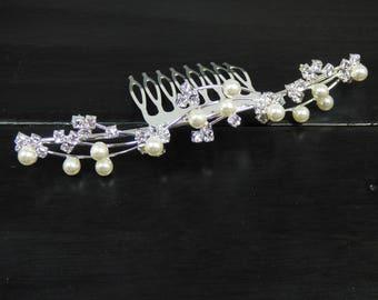 Wave Pearl Hair Comb, Bridal Hair Comb, Wedding Hair Comb, Wedding Hair Accessories, Bridal Hair Accessories, Hair Comb, Hair Pin