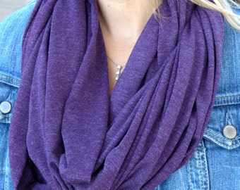 SALE 10% OFF Fall Scarves, Winter Accessories Gifts For Her Gift Ideas Blackberry Purple Infinity Scarf Fall Scarf Winter Scarf Circle Scarf