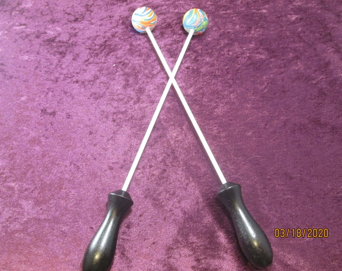 Set of 2 Multi Color Beater Balls! Handmade!