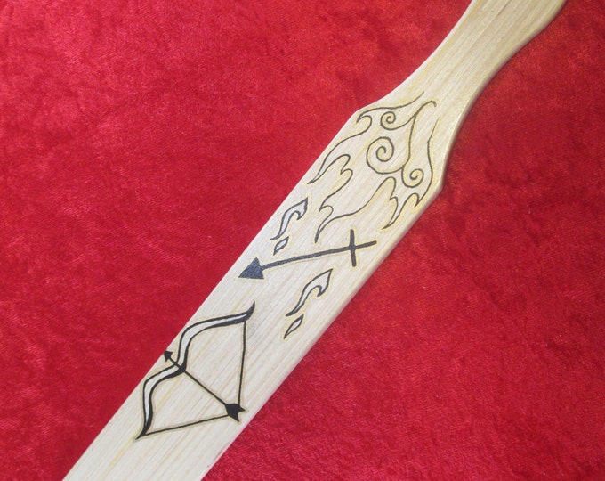 Hand Painted and Hand Crafted Zodiac Paddle! Sagittarius!