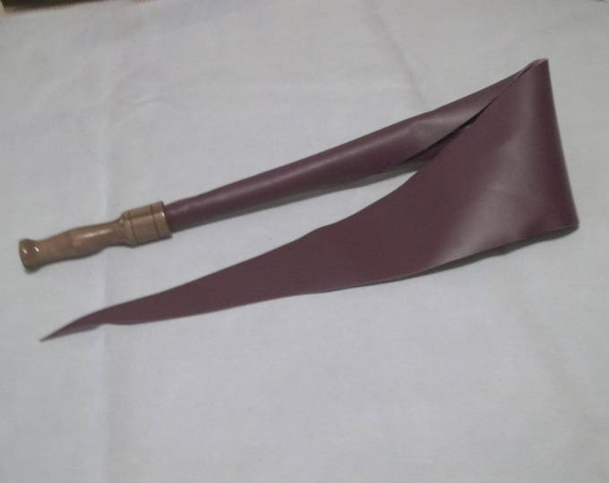 Deep Purple Dragon's Tongue made from Upholstery Leather with a Hand Turned Walnut Handle!
