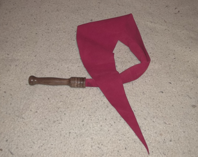 Red Suede Dragons Tongue with Hand Turned Handle!