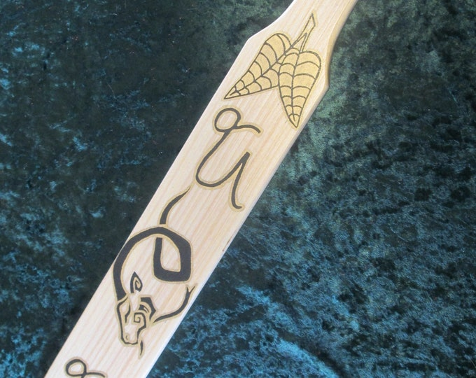 Hand Painted and Hand Crafted Zodiac Paddle! Capricorn! NEW!