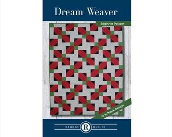 Dream Weaver Quilt Pattern - PDF Digital Download - Simple - Easy - Modern - Beginner - Throw - Lap - Baby -  Masculine - One Quilt Block