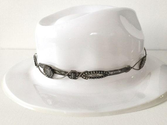 Vintage Fleming Hand Engraved Silver Hat Band - image 8
