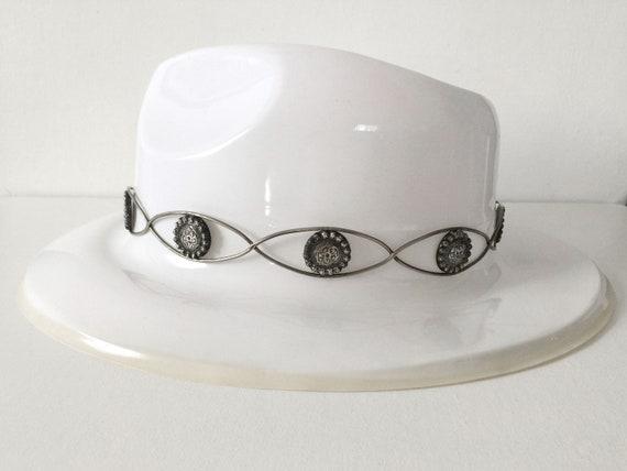 Vintage Fleming Hand Engraved Silver Hat Band - image 7