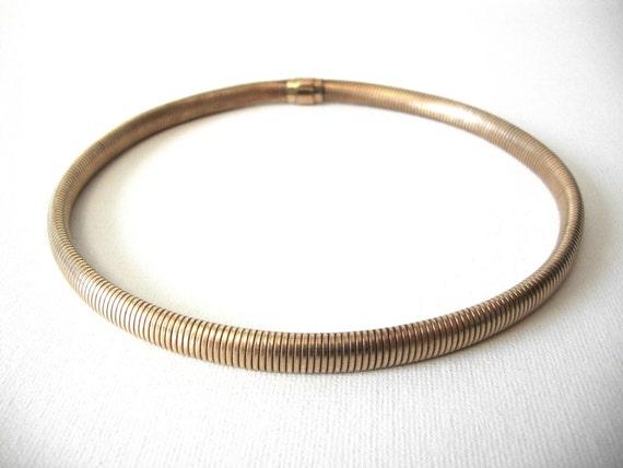 Carl Art Gold Filled Flexible Snake Coil Choker Ne