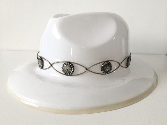 Vintage Fleming Hand Engraved Silver Hat Band - image 6