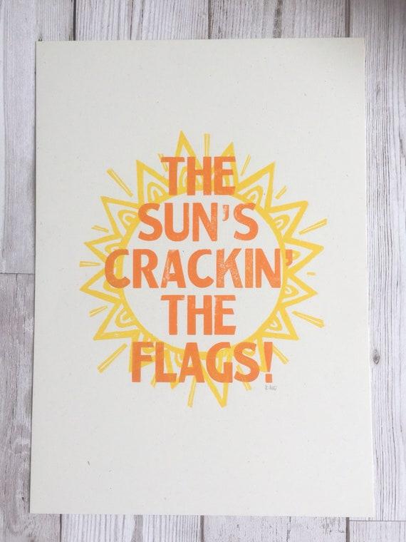 Die Sonne Spruche.Die Sonne Knacken Die Flaggen Liverpool Scouse Spruche Buchdruck Druck Lustige Spruche Wandkunst Sonne Kunst Geschenk Fur Scouser