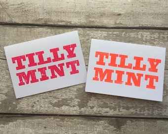 Tilly Mint  - Liverpool Card - Scouse Card funny card - Letterpress - Greetings Card - Card for Scouser - local sayings card