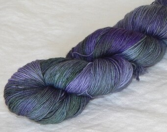 Hydrangea on Mad Sock 75/25 SW merino and nylon sock yarn